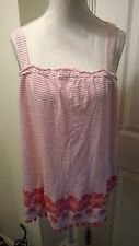 BNWT George Coral/White Striped Strappy Top Size 14