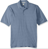 Ashe Xtream Men's Cotton Jersey Short Sleeve Polo Shirt Newport Blue Small NWT