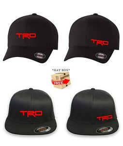 TRD TOYOTA RACING FLEXFIT HAT CURVED or FLAT BILL ***FREE SHIPPING in BOX***