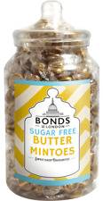 BONDS SUGAR FREE - BUTTER MINTOES - 2KG JAR, TRADITIONAL BOILED SWEETS GIFT