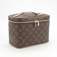 LOUIS VUITTON M42265 Nice BB Monogram Canvas Brown Vanity Hand Bag Ex++