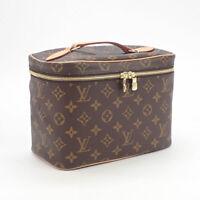 LOUIS VUITTON M42265 Nice BB Monogram Canvas Brown Vanity Hand Bag Ex++