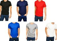 Casual Classic Mens Short Sleeve Tee Adult Slim Fit Plain Crew Neck Tshirt