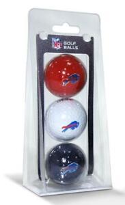 Buffalo Bills 3 Pack Golf Balls [NEW] NFL White Golfing Pk Ball