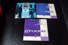 Set of 3 Rare 7'' Vinyl [EP] CUTS 1 + hot 1 + groove 1