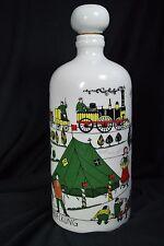 VTG: Bottle ~ Scenic ~ People,Trains,Tents,Horses,Birds,Trees.Bavaria Germany