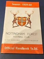 NOTTINGHAM FOREST - 1959-60 - OFFICIAL HANDBOOK - VGC