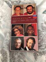 Luciano Pavarotti Rigoletto Verdi Decca Digital 2 Cassettes w/booklet