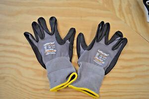 LEIKAFLEX® Nylonstrickhandschuh grau/schwarz Gr. 9, 10