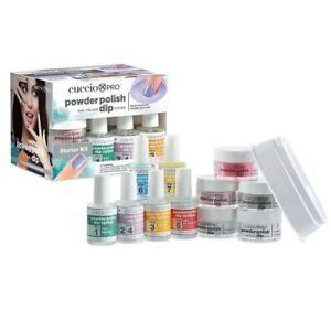 CUCCIO Pro Powder Polish Dip Nail Color Dipping Starter Kit NO SMELL / NO UV
