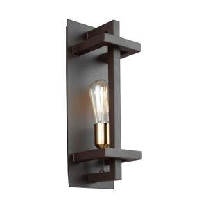 Feiss Finnegan 1 Light Wall Sconce, New World Bronze - WB1826NWB