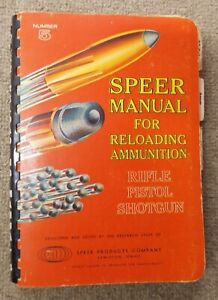 Vintage Speer #5 Reloading Manual for Reloading Ammunition 1961