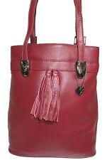 schöne Ledertasche Rucksack LISSABON - bordeaux rot - vario Shopper Tasche