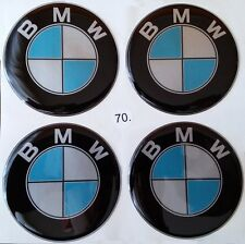4pcs (silicone) BMW Logo Rim Center Stickers 70mm Replacement Wheel Covers Decal