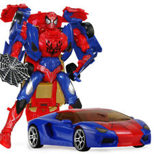 New Cool Superheroes Spider Man Transformering Car Toy Kids Xmas Gift