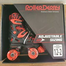 Roller Derby Boy's Trac Star Adjustable Roller Skate Medium (12J-2) Black/Red