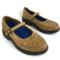 Dr Comfort Paradise Size Womens 7.5W Tan Leather Mary Jane Comfort Shoes