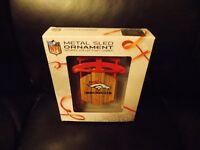NFL Denver Broncos Christmas Metal Sled Ornament Sports Collectors NFL Series