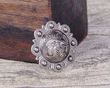 LOT OF 6 CONCHOS ANTIQUE SILVER PICO BERRY WESTERN RODEO LEATHER CRAFT 1 1/2 ""