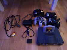 Nintendo 64 Konsole inkl. RAM Upgrade und Donkey Kong 64 + 4 Controller