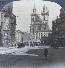 Prague Keystone Stereoview Town Square Czechoslovakia of Education Set #464 B
