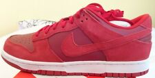 Nike Dunk Low Gym Red White Uk 9 Mens Trainers 904234 601 Bnib Suede Leather