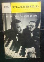 Wilbur Theater Playbill At The Drop Of Another Hat Flanders Swann Oct 1968