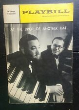 Wilbur Theatre Playbill At The Drop Of Another Hat Flanders Swann Oct 1968