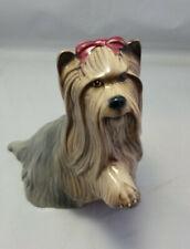 "Yorkshire Terrier Beswick England Ceramic Dog Yorkie Figurine 5-3/8"" tall"