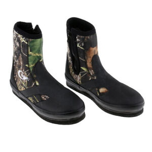 Camo Anti-Skid Spear Fishing River Tracing Diving Boots Shoes w/ Spikes Sole