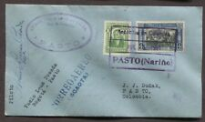 COLOMBIA 1931 LEMA POSADA PILOT SIGNED SCADTA FIRST FLIGHT COVER PASTO NARIÑO