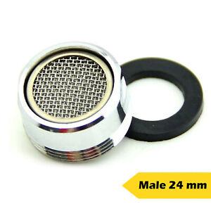 Tap Aerator 24mm Male Anti Splash Water Saver 3L/min Chromed Brass Spout Filter