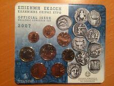 Griekenland  BUset  2007       1 ct t/m 2 euro  8 munten