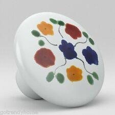 Talavera Style Flowers Ceramic Knobs Pulls Kitchen Drawer Cabinet Vanity 246