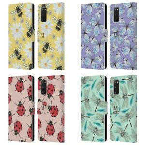 HEAD CASE WATERCOLOUR INSECTS LEATHER BOOK CASE & WALLPAPER FOR SAMSUNG PHONES 1