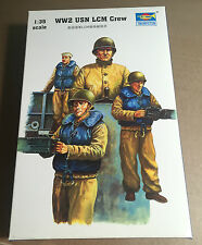 TRUMPETER 00408 - WW2 USN LCM CREW 1/35 - NUOVO
