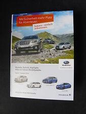 Subaru DVD vidéo-programme 2016-prospectus brochure 01.2016