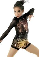 Dance Costume Medium Adult Gold Ombre Weissman Jazz Sequin Solo Competition