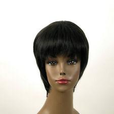 perruque afro femme 100% cheveux naturel courte noir ref KITTY 01 1B
