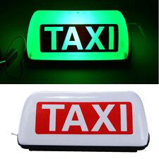 "12V 5 LED Taxi Cab Sign Roof Top Topper Car Super Bright Light Lamp 11"" Green"