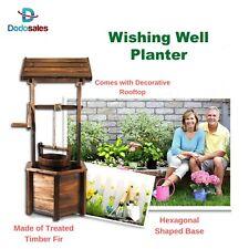 Outdoor Rustic Wishing Well Planter Pot Garden Decor Flower Zen Patio Entryway