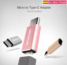 Adaptor For Micro USB 2.0 To type-c (Type C) Nillkin Premium Pink Gold Silver