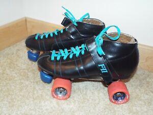 Vtg Pacer Formula II Speed Derby Roller Skates Fan Jet Labeda Wheels MENS Sz 6