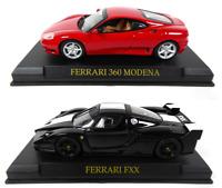 Set of 2 Ferrari 360 Modena + FXX - 1:43 IXO Altaya DIECAST MODEL CAR
