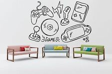 Nursery Wall Decal Video Gaming Room Vinyl Sticker Gamepad Art Decor Mural F2384