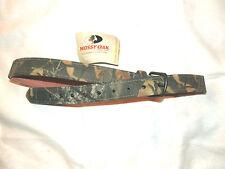 Mossy Oak Camouflage Leather Belt - Break Up Pattern