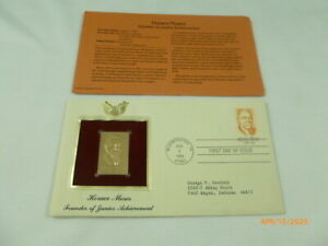 Horace Moses Founder Founder of Junior Achievement 1984 Gold Cover Stamp Replica