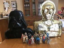 LOOSE LOT OF STAR WARSVINTAGE FIGURES FROM 1977-1983 W/Darth Vader & C3PO Case