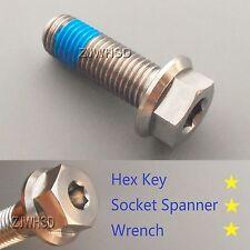 M12 x 1.5 x 35 Titanium Ti Screw Bolt Socket Cap Hexagon Hex Flange Head +Blue