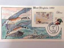COLLINS H/P FDC 1992 WEST VIRGINIA MILFORD DUCK - RARE
